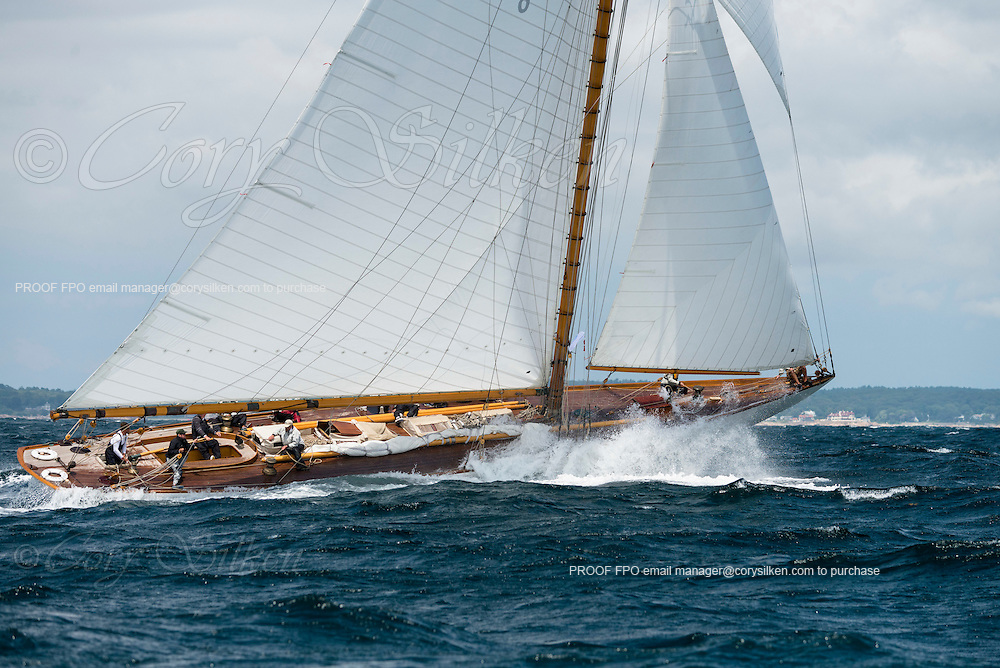 Spartan sailing in the Marblehead Corinthian Classic Yacht Regatta, day two.