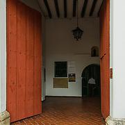 Santuario - sanctuary - de San Pedro Claver in the Plaza de San Pedro Claver, Old City, Cuidad Vieja, Cartagena, Colombia.
