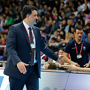Anadolu Efes's and Banvit's during their Turkish Basketball League match Anadolu Efes between Banvit at Abdi Ipekci Arena in Istanbul Turkey on Sunday 29 March 2015. Photo by Aykut AKICI/TURKPIX