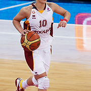 Galatasaray's Isil ALBEN during their Euroleague woman Group A basketball match Galatasaray between UMMC Ekaterinburg at the Abdi Ipekci in Istanbul at Turkey on wednesday,October, 26, 2010. Photo by TURKPIX