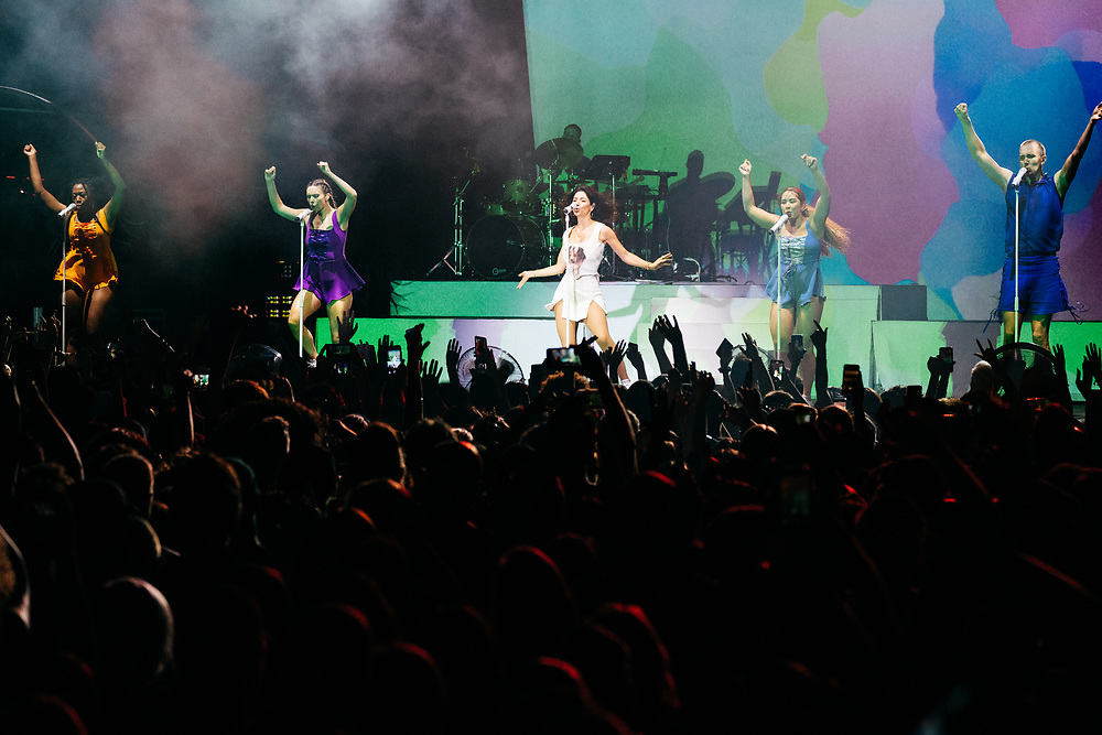 NEW YORK, NY/US - SEPTEMBER 16, 2019: MARINA performs onstage at SummerStage in Central Park in Manhattan. PHOTO CREDIT: Eric M. Townsend