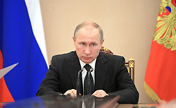 June 26, 2017 - Moscow, Russia - June 26, 2017. - Russia, Moscow. - Russian President Vladimir Putin conducting a Russian Security Council meeting. (Credit Image: © Russian Look via ZUMA Wire)