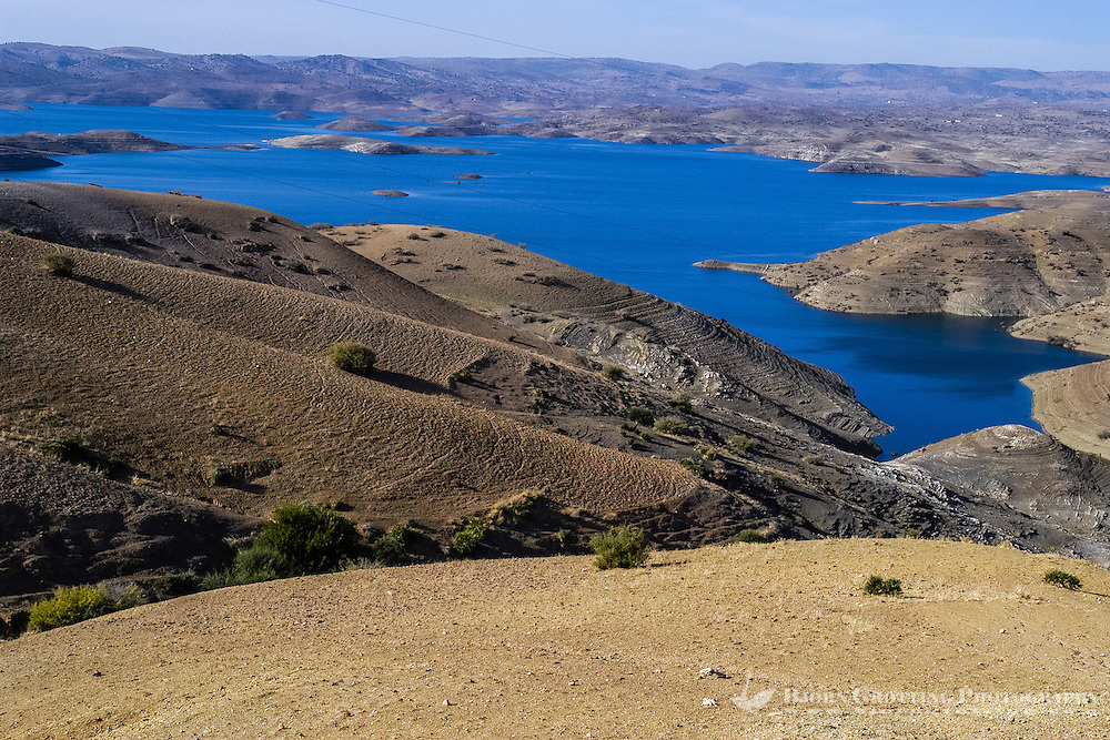 Al Hansali water reservoir in Morocco south of Meknes.