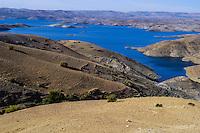 Al Hansali water reservoir in Morocco south of Meknes.