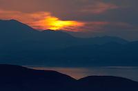 Sunset over Mochlos, northeast coast of Crete