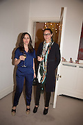TANIA FARES; CAROLINE RUSH, Stefania Pramma launched her handbag brand PRAMMA  at the Kensington residence of her twin sister, art collector Valeria Napoleone.. London.  29 April 2015