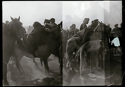 Horse and riders take part in the traditional Afghan sport of buzkashi on a field on the outskirts of the Afghan capital, Kabul, in January of 2011. The goal of a player is to grab the carcass of a headless goat or calf and then get it clear of the other players and pitch it across a goal line or into a target circle or vat.
