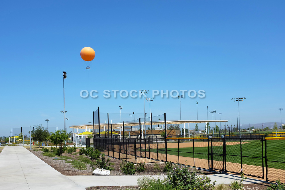 The Balloon Ride Rising Above the Softball Complex at the Orange County Great Park