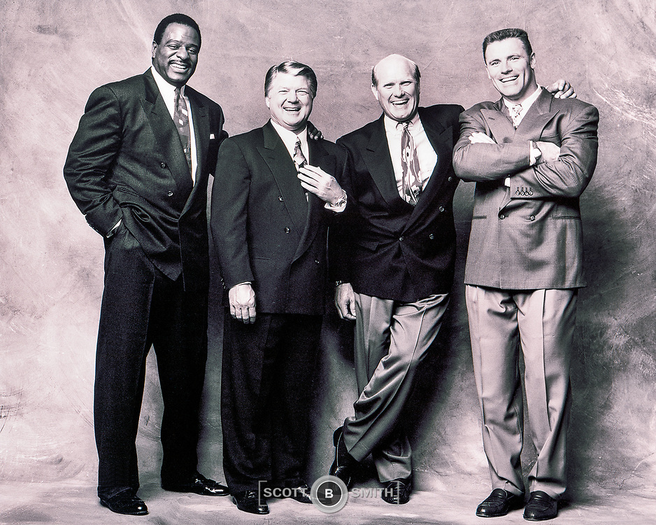 Anchor James Brown, Coach Jimmy Johnson, Terry Bradshaw, Howie Long
