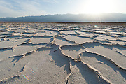 Salt pans at Tule Springs along the west side of Badwater Basin. At -282', Badwater is the lowest point in North America.