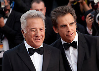 Actor Dustin Hoffman  and Ben Stiller at The Meyerowitz Stories gala screening at the 70th Cannes Film Festival Sunday 21st May 2017, Cannes, France. Photo credit: Doreen Kennedy