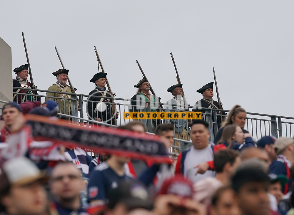 during New England Revolution and CF Montreal MLS match in FOXBORO, MA on Sunday, July 25, 2021  Revs won 2-1. CREDIT/ CHRIS ADUAMA