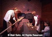 Wax Museum, wax family making pretzels, Rt. 30, Lancaster Co., PA
