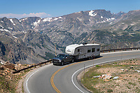 Rv on Beartooth Highway Wyoming