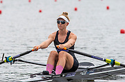 Poznan, POLAND, 21.06.19,  Friday,  NZL2 W1X, Samantha VOSS, at the start, World Rowing Cup II, Malta Lake Course, © Peter SPURRIER/Inter, sport Images, <br /> <br /> 11:52:59