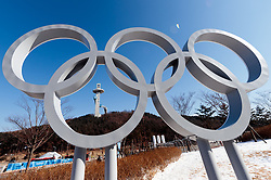 08-02-2018 KOR: Olympic Games day -1, Pyeongchang<br /> Olympic Rings during a preliminary reports ahead of the opening of the Pyeongchang 2018 Winter Olympic Games in Pyeongchang, South Korea on 2018/02/04<br /> <br /> *** USE NETHERLANDS ONLY ***