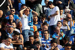 April 29, 2018 - Florence, Italy - The disappointment of Napoli supporters at Artemio Franchi Stadium in Florence, Italy on April 29, 2018, during Serie A match between ACF Fiorentina v SSC Napoli. (Credit Image: © Matteo Ciambelli/NurPhoto via ZUMA Press)