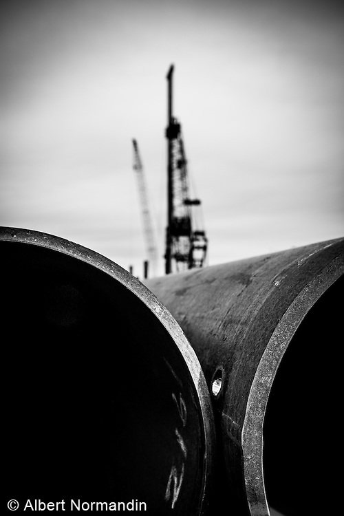Major construction site, Athabasca Tar Sands project, Fort McMurray, Alberta