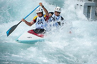 Mingai Hu and Junrong Shu (CHI), Mens C2 Class, Lee Valley White Water Centre, Waltham Abbey, England, Photo by: Peter Llewellyn