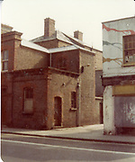 Old amateur photos of Dublin streets churches, cars, lanes, roads, shops schools, hospitals, Streetscape views are hard to come by while the quality is not always the best in this collection they do capture Dublin streets not often available and have seen a lot of change since photos were taken Blackhall St, Queen St, Butchers Bike , Church St Post Office, Cabanteele Hardys Stors Dalkey H C LANE,  May 1984