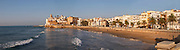 Beach. Porto Alegre / San Sebastian beach. Sitges, Catalonia, Spain