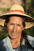 Portrait of a farmer from the Atacama Desert, Chile, South America