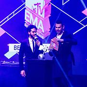 NLD/Rotterdam/20161102 - MTV Music Week Official Opening Party 2016, Kay Nambiar en Afrojack