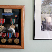 Various medals, including a Bronze Star, that George Snyder, Jr., a 97-year-oldWorld War II veteran, has earned are seen at his Michigan Avenue home in Maumee, Ohio, on Thursday, Jan. 2, 2020.Snyder survived combat and capture while serving in the Army in the 337th Infantry Regiment, 85th Infantry Division, Company G, in Italy. THE BLADE/KURT STEISS<br /> MAG WWIIVet01