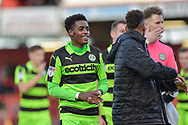 Forest Green Rovers Reece Brown(10) during the EFL Sky Bet League 2 match between Stevenage and Forest Green Rovers at the Lamex Stadium, Stevenage, England on 21 October 2017. Photo by Adam Rivers.
