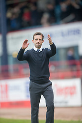 Dundee's manager Neil McCann at the end. Dundee 1 v 1 Ross County, SPFL Ladbrokes Premiership played 13/5/2017 at Dens Park.