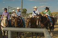 Cowgirls at kids rodeo in Livingston, Montana.