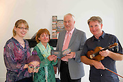 Eibhlín De Paor, Cúige Mumhan, Ealaín na Gaeltachta Teo., Monica de Bath, Ealaín na Gaeltachta , Pádraig Ó hAoláin Udaras and  Dermot McLaughlin, CEO, Temple Bar Cultural Trust - Culture Night Director  at the launch of the Gaeltacht Programme for Culture Night.  'Oíche Chultúir' features over 60 free cultural events throughout the Gaeltacht regions on the evening of Friday September 24th. Photo:Andrew Downes. Photo issued with Compiments, no reproduction fee.