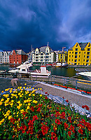 Art nouveau (Jugendstil) architecture, Alesund, Norway