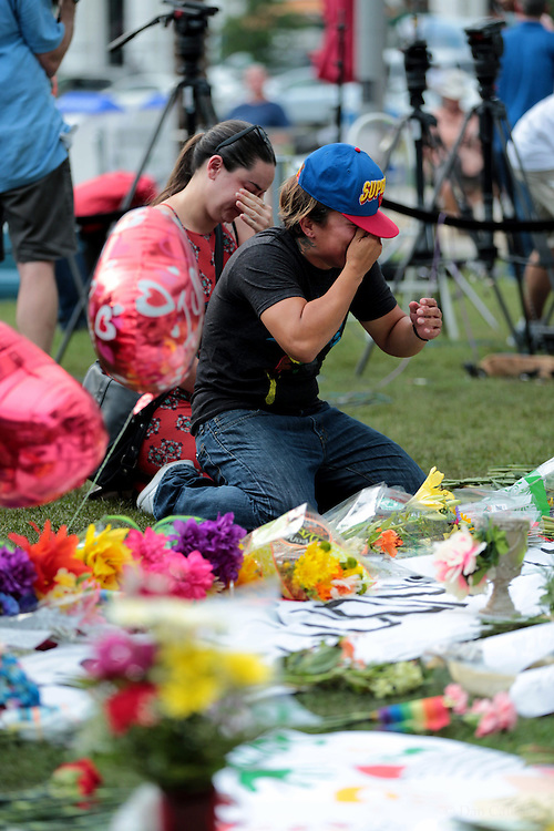 Photograph by © Dan Callister <br /> www.dancallister.com<br /> An American-born man who'd pledged allegiance to ISIS gunned down 49 people early Sunday at a gay nightclub in Orlando, the deadliest mass shooting in the United States and the nation's worst terror attack since 9/11, authorities said. The gunman, Omar Mateen, 29, of Fort Pierce, Florida, was interviewed by the FBI in 2013 and 2014 but was not found to be a threat, the FBI said.<br /> [Non-Exclusive]<br /> [ Pictures]<br /> **© DAN CALLISTER. FEE MUST BE AGREED BEFORE USAGE. NO WEB USAGE WITHOUT APPROVAL. ALL RIGHTS RESERVED** <br /> Tel: +1 347 649 1755<br /> Mob: +1 917 589 4976<br /> E-mail: dan@dancallister.com<br /> Web:  www.dancallister.com<br /> 3149 41st St, #3rd Floor, Astoria, NY 11103 USA<br /> Photograph by © DAN CALLISTER  www.dancallister.com
