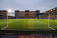 View from the goal and of pitch at New Plough Lane during the EFL Sky Bet League 1 match between AFC Wimbledon and Peterborough United at Plough Lane, London, United Kingdom on 2 December 2020.