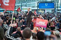 """19 SEP 2013, BERLIN/GERMANY:<br /> Peer Steinbrueck, SPD, Kanzlerkandidat, haelt eine Rede, waehrend der SPD Wahlkampfveranstaltung zur Bundestagswahl """"Endspurt mit Peer Steinbrück"""", Alexanderplatz<br /> IMAGE: 20130919-01-007<br /> KEYWORDS: Zelt, Peer Steinbrück"""