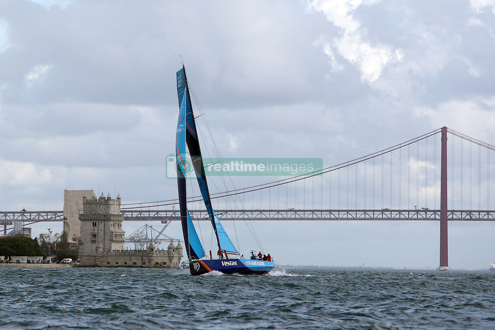 November 3, 2017 - Lisbon, Portugal - Vestas 11th Hour Racing team captained by American Charlie Enright in action during the Volvo Ocean Race 2017-2018 In-port Race at the Tagus River in Lisbon, Portugal on November 3, 2017. (Credit Image: © Pedro Fiuza/NurPhoto via ZUMA Press)