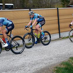 28-03-2021: Wielrennen: Gent-Wevelgem: Wevelgem<br />(82) Amalie Diederiksen, (144) Mieke Kroger