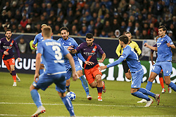 October 2, 2018 - Sinsheim, Germany - Sergio Aguero 10; seen in action during the UEFA Champions League group F football match between TSG 1899 Hoffenheim and Manchester City at the Rhein-Neckar-Arena (Credit Image: © Elyxandro Cegarra/SOPA Images via ZUMA Wire)