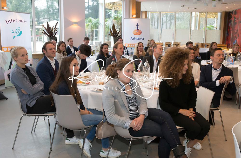 AMERSFOORT -  Spelerslunch 2016 , Nederlands team . Larissa Meijer, Ginella Zerbo, COPYRIGHT KOEN SUYK