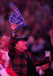 Keith Flint Singer of The Prodigy during day four of the William Hill World Darts Championships at Alexandra Palace, London.