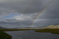 Rainbow over Flat Creek on National Elk Refuge