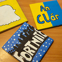 Ennis National School jessies project 'colourful coasters'