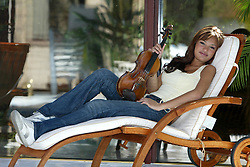 16 year old Nicola Bendetti wins the BBC Young Musician of the Year in 2004. Pictured at home in West Kilbride, 3/05/2004..Pic ©2010 Michael Schofield. All Rights Reserved.