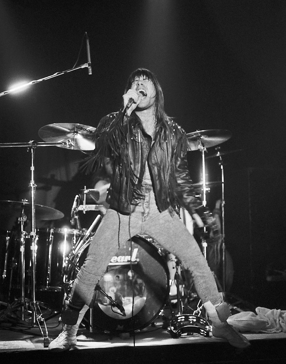 ALLENTOWN - JULY 21: Bruce Dickinson performs at Airport Music Hall on July 21, 1990, in Allentown, Pennsylvania. ©Lisa Lake