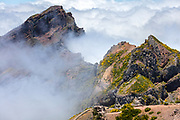 Highest point of Madeira above the clouds
