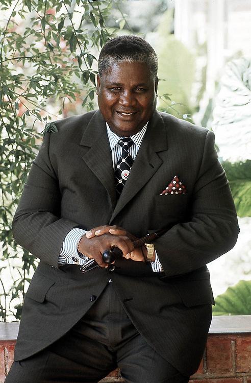 Rhodesian politician Joshua Nkomo seen in Salisbury, Rhodesia in 1976.