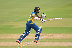 Sri Lanka's Niroshan Dickwella in action during the ICC Champions Trophy, Group B match at Cardiff Wales Stadium.