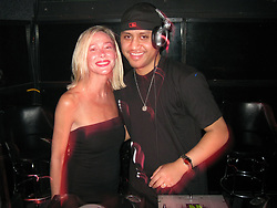 May 23, 2009 - Seattle, Washington, U.S. - Just another Saturday night, as VILI FUALAAU, 26, aka 'DJ HEADLINE' spinning with his wife and host MARY KAY LETOURNEAU-FUALAAU, 47, at 'Hot for Teacher' night at Fuel Sports Eats & Beats in Seattle's Pioneer Square. The famous couple is none other than Seattle's own infamous teacher-student couple, ex-elementary teacher Mary Kay, and her husband and her former sixth-grade student, the father of her two youngest children. Mary Kay, served 7 1/2 years in prison after she was convicted of raping a minor (Vili). Married 4 years ago this week, right after Mary Kay got out of jail for having sex with her then student Vili, while on probation. The couple first met when Fualaau was in the 2nd grade. Their relationship became sexual when he was 12 and she was a 34-year-old married mother of 4 at the time. They have kept a very low profile for the past few years, but not anymore. Fuel owner, M. Morris, said 'she has served her sentence, she's married her former student, and it's OK for them to have some fun on a Saturday night and this is the third time Letourneau and Fualaau have hosted a 'Hot for Teacher' night at the nightclub.' (Credit Image: © Daren Fentiman/ZUMA Wire)