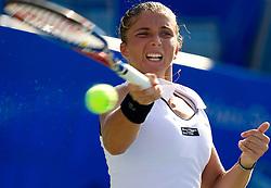 Sara Errani of Italy at 1st Round of Singles at Banka Koper Slovenia Open WTA Tour tennis tournament, on July 20, 2010 in Portoroz / Portorose, Slovenia. (Photo by Vid Ponikvar / Sportida)